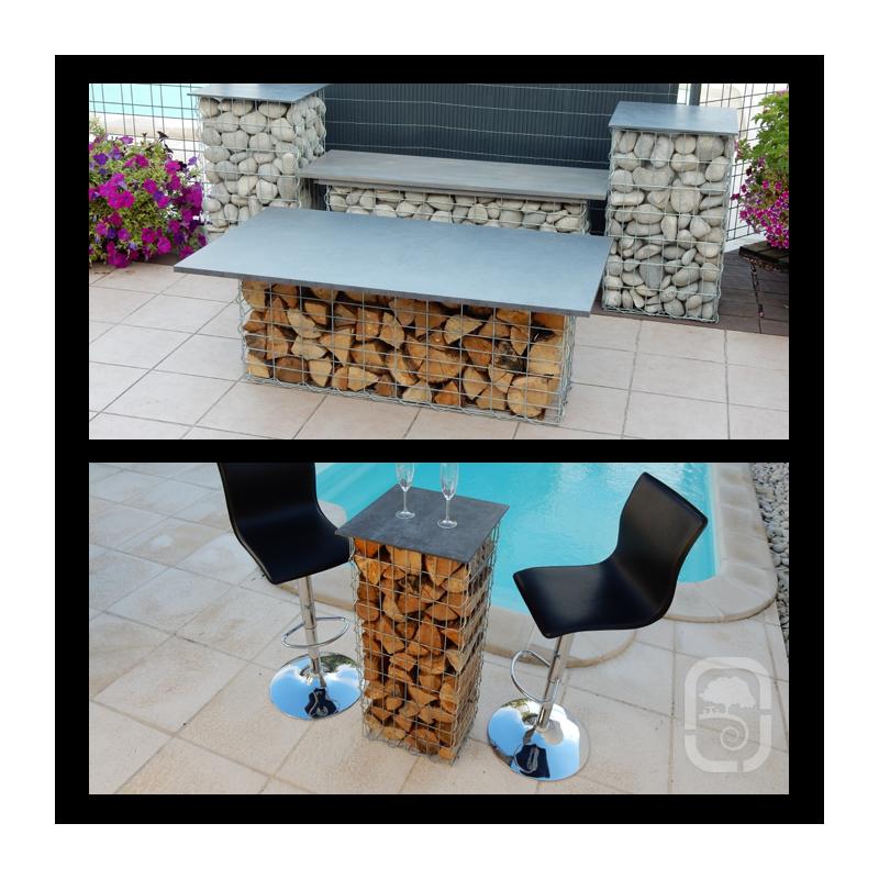 gabion en acier galvanis 100 cm. Black Bedroom Furniture Sets. Home Design Ideas