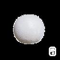 Boule blanche en pierre reconstituée - 30cm