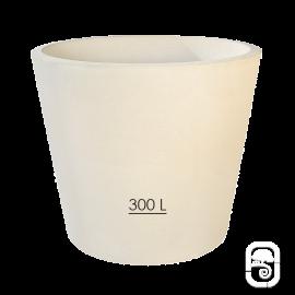 Pot XXL 278 béton pressé blanc - 300L