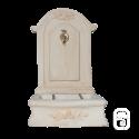 Fontaine romantique en pierre reconstituée vieillie - H 96cm