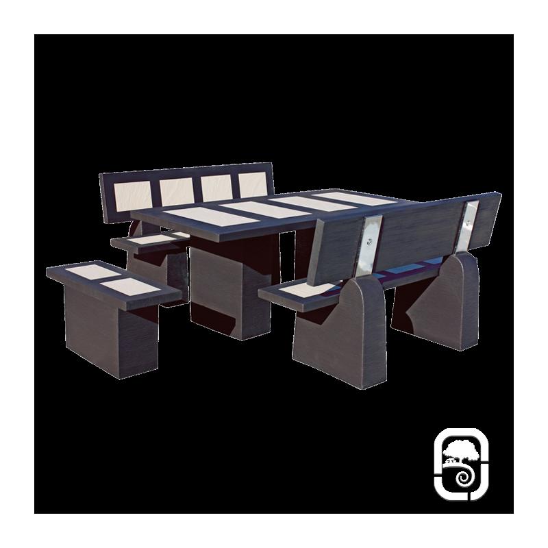 salon en b ton status polar wengu. Black Bedroom Furniture Sets. Home Design Ideas