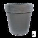 Pot horticole XL béton pressé anthracite - 200L