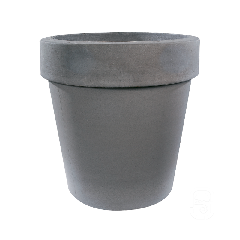 Pot horticole xl b ton press anthracite 200l - Pot en beton ...
