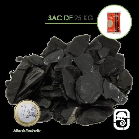 Paillettes ardoise noire 10/50 - sac 25 Kg