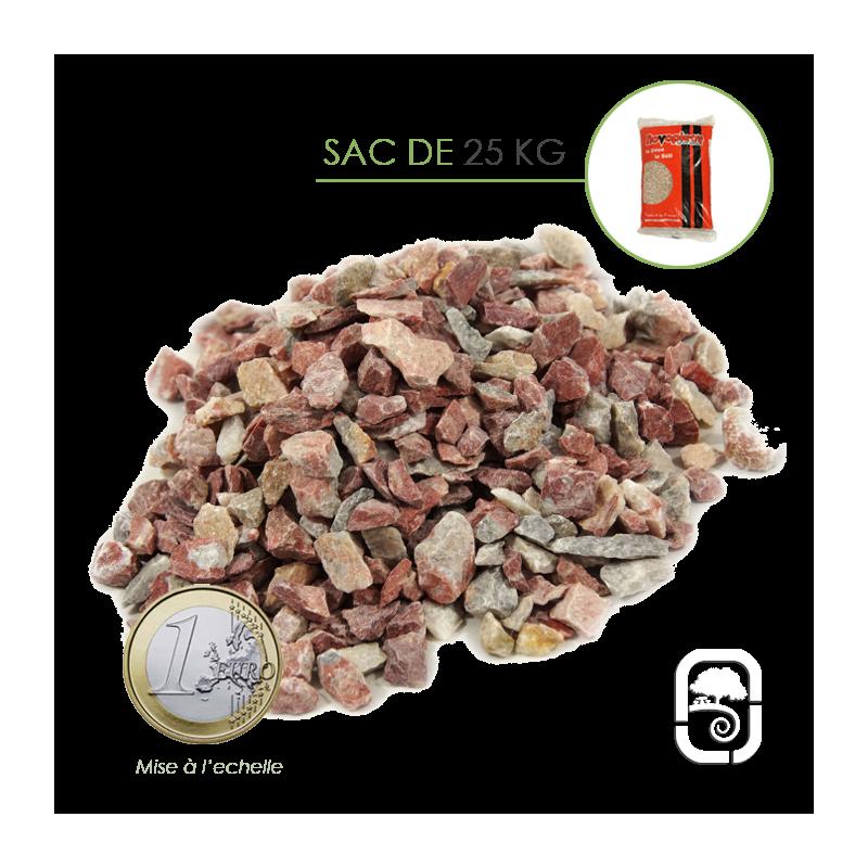 Gravier marbre arlequin 6 14 sac 25 kg - Sac de gravier ...