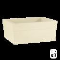 Jardinière Azalée béton pressé blanc  - 80cm