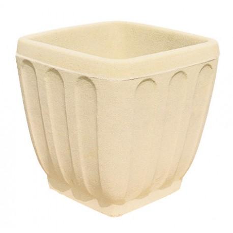 Pot carré C22 pierre classique - Ø 38 cm