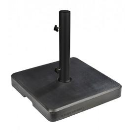 Pied de parasol en pierre reconstituée ton ardoise