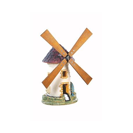 Moulin à roue en pierre vieilli - H 54 cm