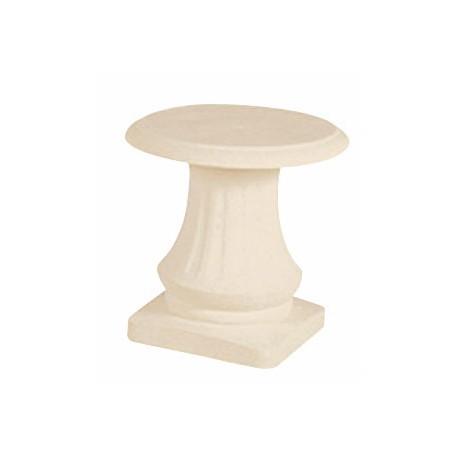 Tabouret blanc en pierre reconstituée