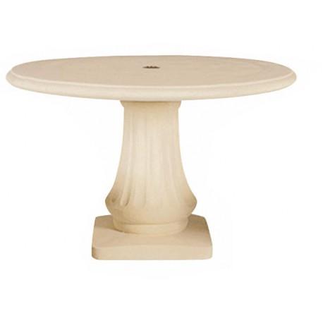 Table de jardin en pierre 120 Blanc
