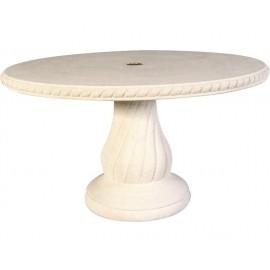 Table de jardin ovale en pierre