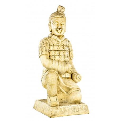 Statue Guerrier chinois Xian assis - H 56 cm