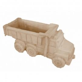 Jardinière camion ton pierre vieillie - 80 cm
