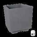 Bac carré béton pressé anthracite - 38cm