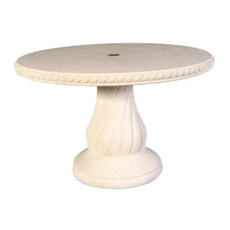 Table de jardin en pierre 240 Blanc