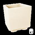Bac carré béton pressé blanc - 38cm