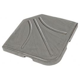 Dalle de parasol en pétale ton gris 22 kg