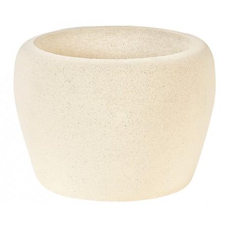 Vase 266 TON BLANC béton pressé - Ø 34cm