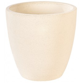 Vase 269 TON BLANC béton pressé - Ø 35cm