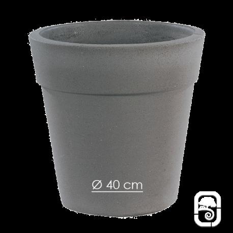Pot 264 béton pressé anthracite - Ø 40cm