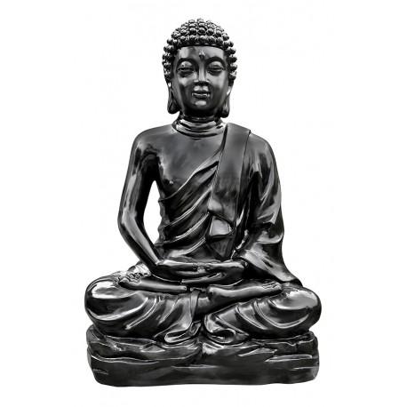 Statue Bouddha Kadampa ton ciré noir- H 96 cm