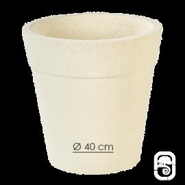 Pot 264 béton pressé blanc - Ø 40cm