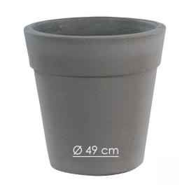 Pot 265 béton pressé anthracite - Ø 49cm