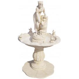 Fontaine centrale Marité ton ocre - H 195cm