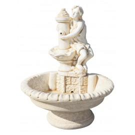 Fontaine centrale Afrodita ton ocre - H 110cm