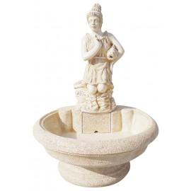 Fontaine centrale Diana ton ocre - H 110cm
