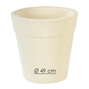 Pot 265 béton pressé blanc - Ø 49cm