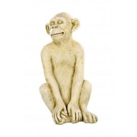 Statue singe béton ton vieilli - H 55 cm