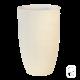 Vase haut béton pressé blanc - 40X64cm