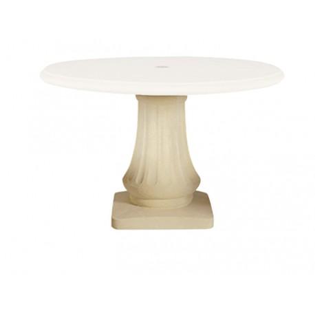 Pied pour table de jardin en pierre 120 Blanc