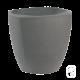 Pot rond carré béton pressé anthracite - Ø 30cm