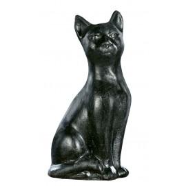 Chat Tabby debout noir  - H 32cm