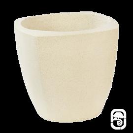 Pot rond carré béton pressé blanc - Ø 30cm