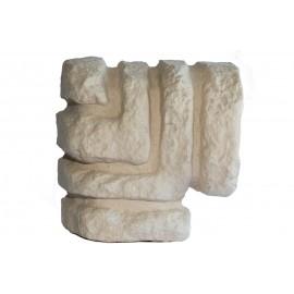 Bordure Rocamadour  pour angle ton pierre - Long 23 cm