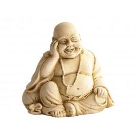 Statue mini Bouddha au bracelet ciré noir - H 14 cm