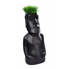 Statue Moaï Noire - H 60cm