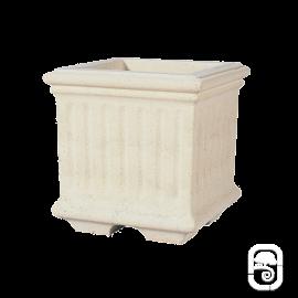 Bac carré 234 marbre blanc - 40cm