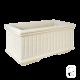 Bac 254 marbre blanc - 80cm