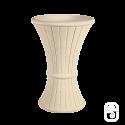 Panier cendrier marbre blanc - 49X70cm