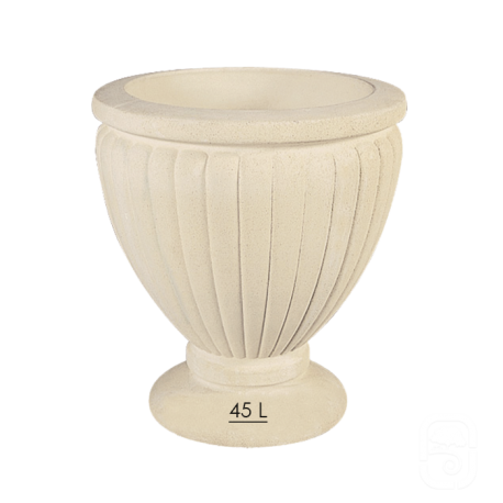 Pot 194 marbre blanc - Ø 50cm