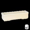 Jardinière 606 marbre blanc - 75cm