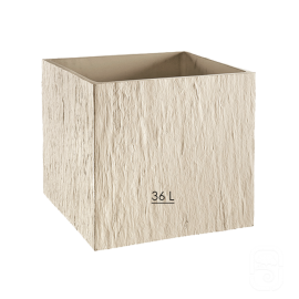 Bac carré Quiberon MM Ivoire  - 38cm