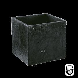 Bac carré Quiberon MM Ardoise  - 38cm