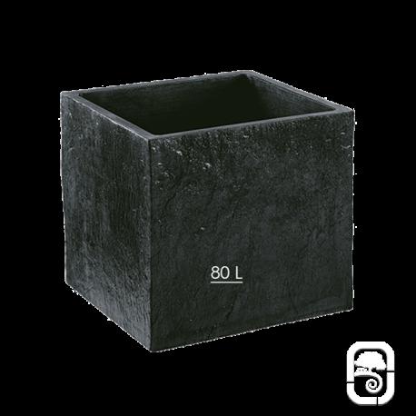 Bac carré Quiberon GM Ardoise  - 49cm
