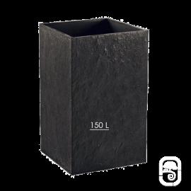 Bac carré haut Quiberon Ardoise GM - 49X80cm